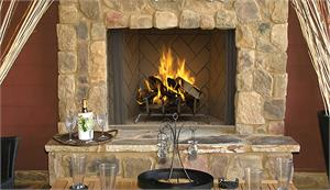 "Outdoor Wood Burning 36"" Fireplace with Masonry Custom Interior Liners by Superior WRE6000 WRE6036"
