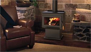 Wood Burning Free Standing Stove by Superior with 1.6 Cubic Feet Interior F4020