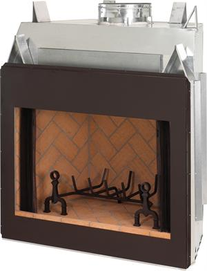 Superior Masonry Indoor Wood Burning Fireplace