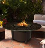 Carmel Round with Black Mahogany Granite Top