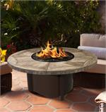 Carmel Round with Mosaic Gray Travertine Top