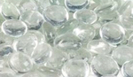 Smooth Glass Pebbles in Clear GP43C F1101
