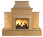 Outdoor Grand Cardova Fireplace by American Fyre Designs