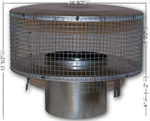 RT-8DM Round Top Termination with Mesh Screen Wood Burning Pipe F0916